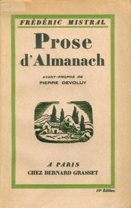 Frédéric Mistral - Prose d'Almanach.