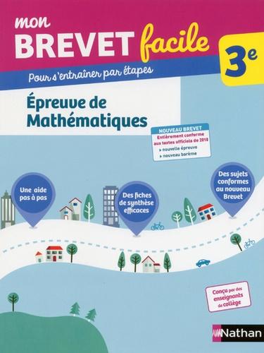 Epreuve de Mathématiques 3e  Edition 2018
