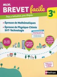 Epreuves de mathématiques, physique-chimie-SVT-Techno 3e - Frédéric Puigrédo |