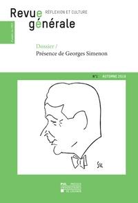 Frédéric Saenen - Revue générale n° 1 – automne 2019 - Dossier – Présence de Georges Simenon.