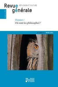 Frédéric Saenen - Revue générale n° 2021/1 - Dossier – Où sont les philosophes ?.
