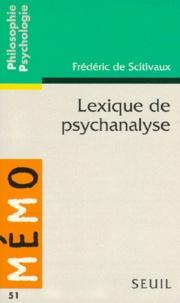 Frédéric Scitivaux - Lexique de psychanalyse.