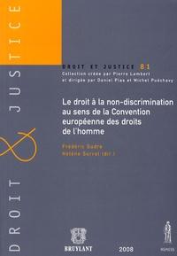 Frédéric Sudre et Hélène Surrel - Le droit à la non-discrimination au sens de la Convention européenne des droits de l'homme.