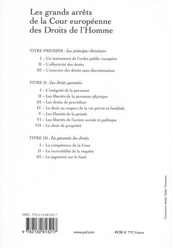 Les grands arrêts de la Cour européenne des droits de l'homme 9e édition