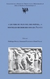 """Frédérique Biville et Emmanuel Plantade - """"Les vers du plus nul des poètes..."""" - Nouvelles recherches sur les Priapées."""