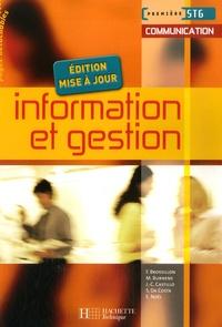 Information et gestion 1e STG communication - Frédérique Brossillon  