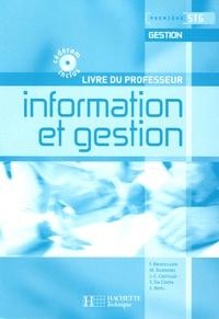 Frédérique Brossillon et Martine Burnens - Information et gestion 1e STG Gestion - Livre du professeur. 1 Cédérom