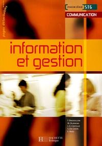 Frédérique Brossillon et Martine Burnens - Information et gestion 1e STG.