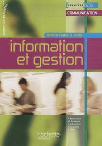 Frédérique Brossillon et Martine Burnens - Information et gestion Première STG Communication.