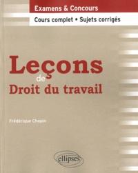 Frédérique Chopin - Leçons de droit du travail.