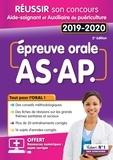 Frédérique Jaquet et Françoise Sanchez - Réussir son Concours Aide-Soignant et Auxiliaire de puériculture - Epreuve orale AS-AP.