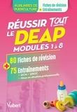 Frédérique Jaquet - Réussir tout le DEAP en 80 fiches de révision et 75 entrainements - Modules 1 à 8.