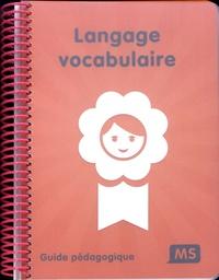 Deedr.fr Langage vocabulaire MS - Guide pédagogique Image