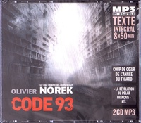 Olivier Norek - Code 93. 2 CD audio MP3