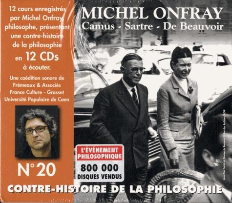 Michel Onfray - Contre-histoire de la philosophie N° 20 - Camus, Sastre, De Beauvoir. 12 CD audio
