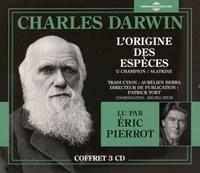 Charles Darwin - L'origine des espèces. 3 CD audio