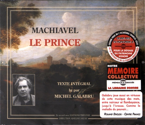 Nicolas Machiavel - Le Prince. 3 CD audio