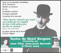 Henri Bergson - Textes de Henri Bergson. 1 CD audio