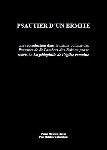Frère Ermite et Paul Melchior - Psautier d'un ermite.