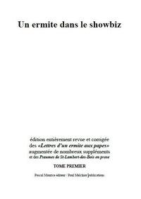 Frère Ermite et Paul Melchior - Un ermite dans le showbiz - tome I.