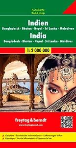Inde, Népal, Bangladesch, Sri Lanka- 1/2 000 000 -  Freytag & Berndt pdf epub