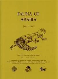 Corridashivernales.be Fauna of Arabia - Volume 23, 2007 Image