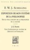 Friedrich von Schelling et Johann-Gottlieb Fichte - Exposition de mon système de la philosophie, suivi de Sur l'Exposition du système de l'identité de Schelling.