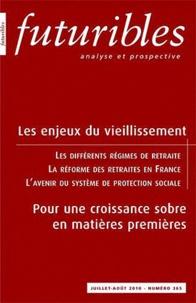 Hugues de Jouvenel - Futuribles N° 365, Juillet-Août : Les enjeux du vieillissement - Pour une croissance sobre en matières premières.