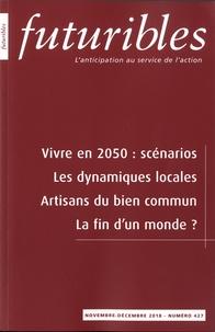 Hugues de Jouvenel - Futuribles N°427, novembre-déce : Vivre en 2050 : scénarios.