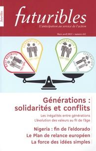 Hugues de Jouvenel et Stéphanie Debruyne - Futuribles N° 441, mars-avril 2 : Générations : solidarités et conflits.