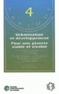 G. Berger et M. Singleton - Urbanisation et développement pour une planète viable et vivable - Positions et propositions de chercheurs.
