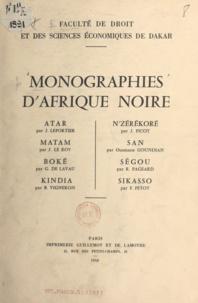 G. de Lavau et Ousmane Goundian - Monographies d'Afrique noire.