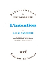 G-E-M Anscombe - L'intention.