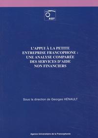 Galabria.be L'appui à la petite entreprise francophone : une analyse comparée des services d'aide non financiers Image