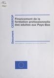 G. Kraayvanger et B. Hövels - Focus 2 : Financement de la formation professionnelle des adultes aux Pays-Bas.