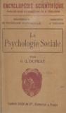 G.-L. Duprat et  Toulouse - La psychologie sociale - Sa nature et ses principales lois.