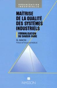 MAITRISE DE LA QUALITE DES SYSTEMES INDUSTRIELS. Formalisation du savoir-faire.pdf