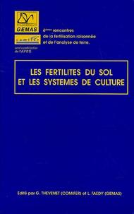 G Thevenet - Les fertilités du sol et les systèmes de culture.