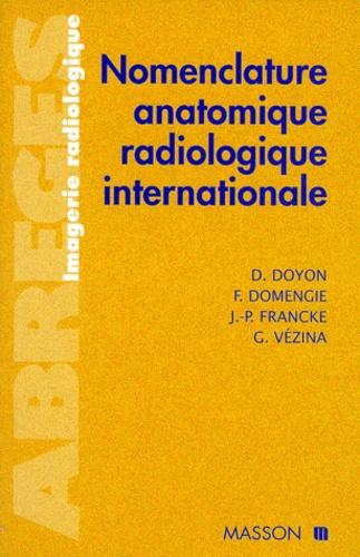 G Vezina et  Collectif - Nomenclature anatomique radiologique internationale.
