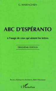 Galabria.be ABC d'espéranto. A l'usage de ceux qui aiment les lettres, 3ème édition Image