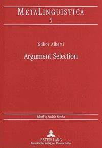 Gabor Alberti - Argument Selection.