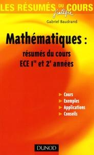 Alixetmika.fr Mathématiques : résumés du cours ECE 1e et 2e années Image