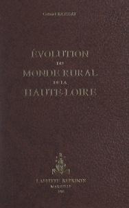 Gabriel Bayssat - Évolution du monde rural de la Haute-Loire.