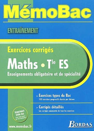 Gabriel Boissière - Maths Terminale ES. - Exercices corrigés.