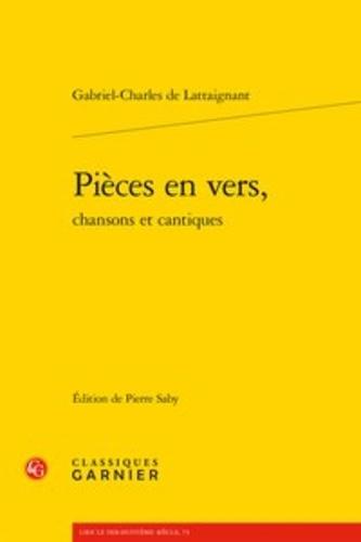 Pieces en vers, chansons et cantiques