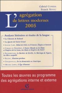 Gabriel Conesa et Franck Neveu - L'agrégation de lettres modernes.