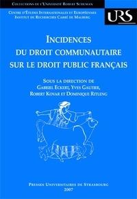 Alixetmika.fr Incidences du droit communautaire sur le droit public français Image
