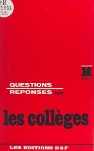 Gabriel Langouët - Questions-réponses sur les collèges.