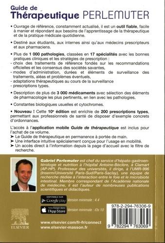 Guide de thérapeutique Perlemuter 10e édition