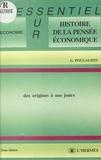 Gabriel Poulalion - Histoire de la pensée économique des origines à nos jours.